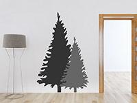 Wandtattoo Zweifarbige Tannenbäume | Bild 2