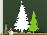 Wandtattoo Zweifarbige Tannenbäume | Bild 3