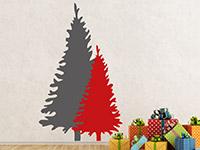 Wandtattoo Zweifarbige Tannenbäume | Bild 4