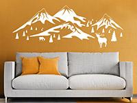 wandtattoo in den bergen von. Black Bedroom Furniture Sets. Home Design Ideas