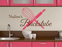 Wandtattoo Backstube mit Wunschname in der Küche