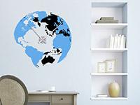 Wandtattoo Globus Uhr | Bild 4