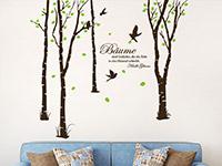 Wandtattoo Zweifarbige Bäume im Wohnzimmer