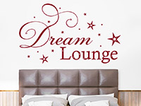 Dream Lounge Wandtattoo in rot