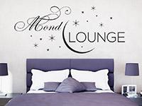 Wandtattoo Mond Lounge im Schlafzimmer