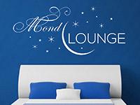 Mond Lounge Wandtattoo in weiß