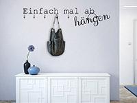 Wandtattoo Garderobe Abhängen | Bild 2