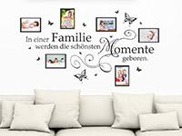Wandtattoo Fotorahmen In einer Familie