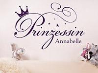 Wandtattoo Prinzessin mit Name | Bild 2
