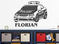 Wandtattoo Polizeiauto mit Name | Bild 2