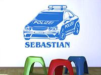 Wandtattoo Polizeiauto mit Name | Bild 3