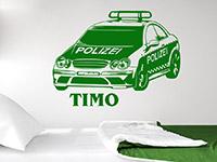 Wandtattoo Polizeiauto mit Name | Bild 4