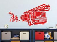 Wandtattoo Feuerwehrmänner im Einsatz | Bild 2