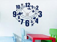 Wandtattoo Weltraum Uhr im Kinderzimmer