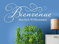Wandtattoo Bienvenue Herzlich Willkommen | Bild 2