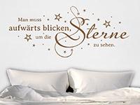 Wandtattoo Sterne sehen im Schlafzimmer