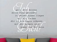 Wandtattoo Ich liebe dich | Bild 3