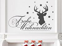 Wandtattoo Hirsch mit Frohe Weihnachten | Bild 3