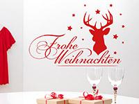 Wandtattoo Hirsch mit Frohe Weihnachten | Bild 4
