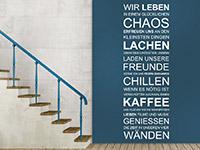 Wandtattoo Wir leben in einem glücklichen Chaos | Bild 3