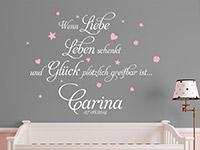 Wandtattoo Wenn Liebe Leben schenkt...