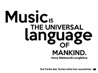 Wandtattoo Music is the universal... Motivansicht