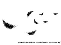 Wandtattoo Federn zweifarbig Motivansicht
