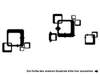 Wandtattoo Zweifarbige Retro Cubes Motivansicht