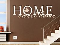 Englisches Wandtattoo Sweet Home zweifarbig in weiß