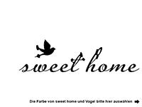 Wandtattoo Sweet Home zweifarbig Motivansicht