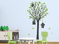 Wandtattoo Baum mit Vogelhäusern