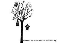 Wandtattoo Baum mit Vogelhäusern Motivansicht