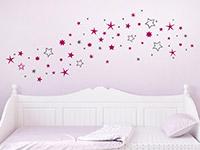 Wandtattoo Zweifarbiger Sternenhimmel im Kinderzimmer