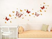 Wandtattoo Zweifarbiges Schmetterlinge Set im Kinderzimmer