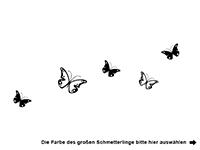 Wandtattoo Zweifarbiges Schmetterlinge Set Motivansicht