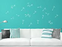Wandtattoo Zusatzsamen Set Pusteblumen mit umherfliegenden Schirmchen | Bild 2