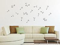 Wandtattoo Zusatzsamen Set Pusteblumen mit umherfliegenden Schirmchen | Bild 3