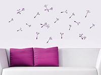 Wandtattoo Zusatzsamen Set Pusteblumen mit umherfliegenden Schirmchen | Bild 4