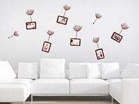 Wandtattoo Zusatzrahmen Set Pusteblume mit Fotorahmen | Bild 2