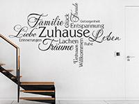 Begriffe Wandtattoo Zuhause Schriften im Flur