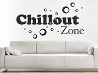 Wandtattoo Chillout Zone