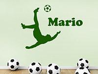 Wandtattoo Fußballspieler mit Name | Bild 3