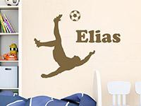 Wandtattoo Fußballspieler mit Name | Bild 4