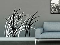 Wandtattoo Zweifarbige Gräser im Wind im Wohnzimmer
