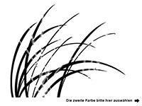 Wandtattoo Zweifarbige Gräser im Wind Motivansicht