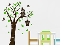 Wandtattoo Kinderbaum mit Eule | Bild 3