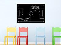 Tafelfolie Fußballfeld im Kinderzimmer
