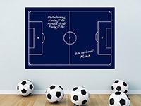 Fußball Tafelfolie Fußballfeld in blau