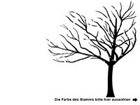 Wandtattoo Stilvoller Baum Motivansicht