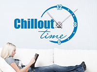 Wandtattoo Uhr Chillout Time